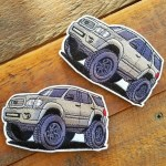 Toyota Sequoia 1st Gen Mini 4 25 Velcro Patch Amaesing Decals Patches