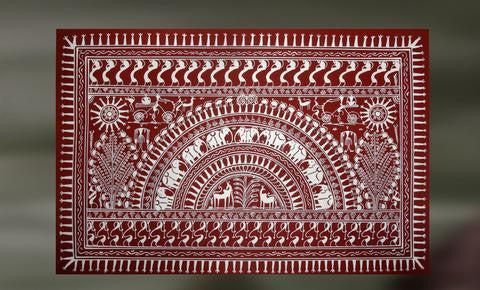 Nisarga Tribal Saura Art Depicting Nature Artisans Crest