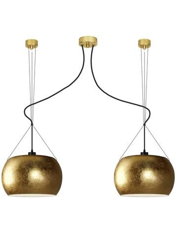 momo elementary 2 s double pendant lamp gold leaves black gold leaves