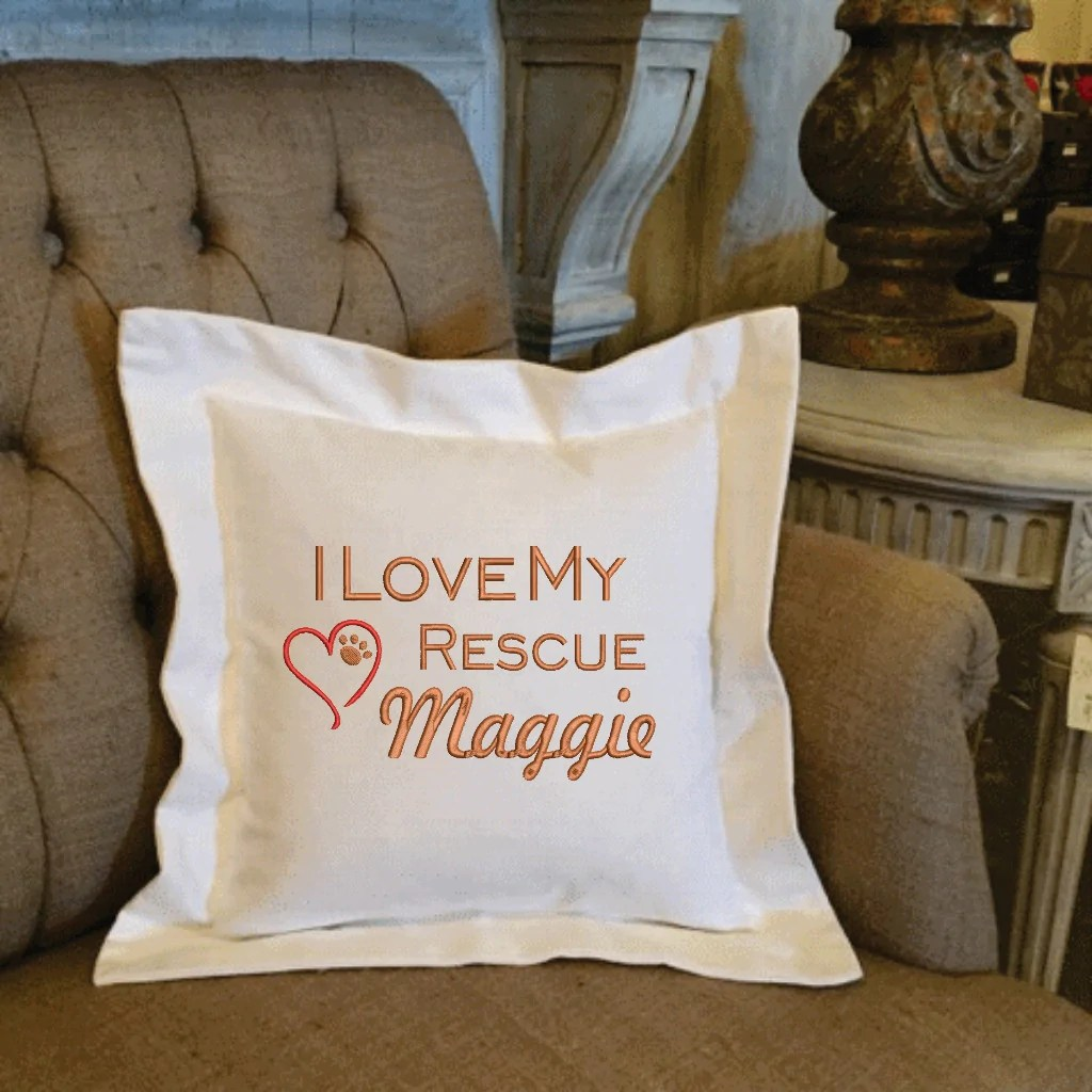 i love my pet pillow breed name forever pillows