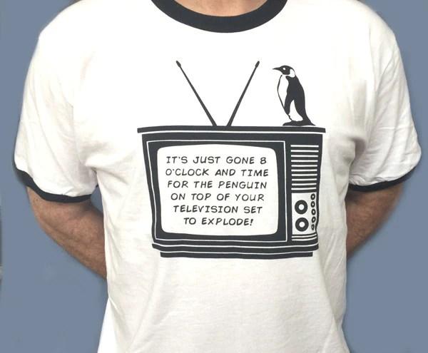 patrick day boxer Monty Python - Penguin On The Tele T-Shirt (M-XXL ...