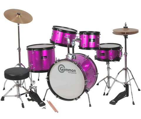 Princess Pink Complete Junior Drum Set With Sticks Stool Hardware     Princess Pink Complete Junior Drum Set With Sticks Stool Hardware and  Cymbals