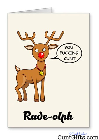 4 X Cunt Christmas Cards Multipack A Save 2 Cunt Gifts