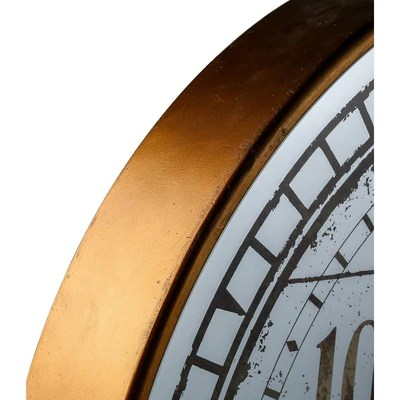 Buy Suffolk Large Round Mirror Moving Cogs Wall Clock 82cm Online Oh Clocks