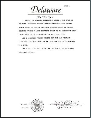 Delaware Certificate Of Good Standing Order Form