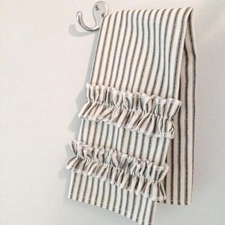 Ticking Stripe Hand Towel Black Ticking Southern Ticking Co