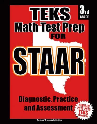 3rd Grade Staar Math Test Prep Teacherstreasures Com
