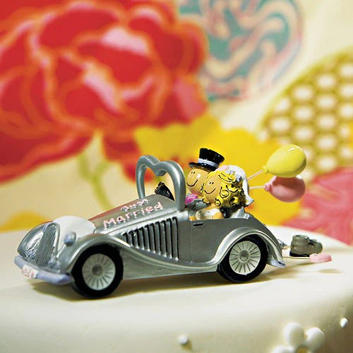 Get a way Car Wedding Cake Topper   Whimsical Wedding Cake Top whimsical wedding cake top