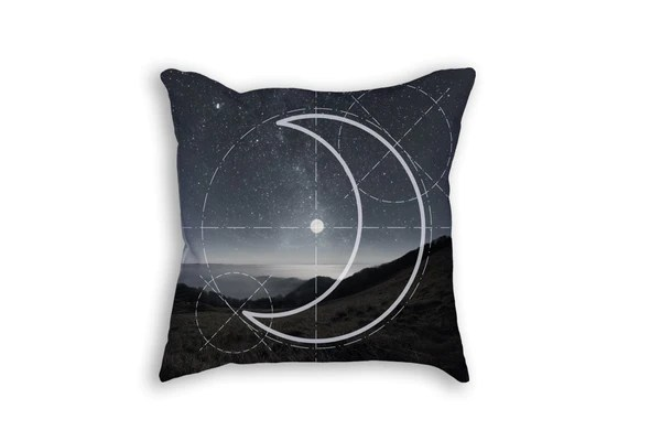 abstract crescent moon pillow urban earth co