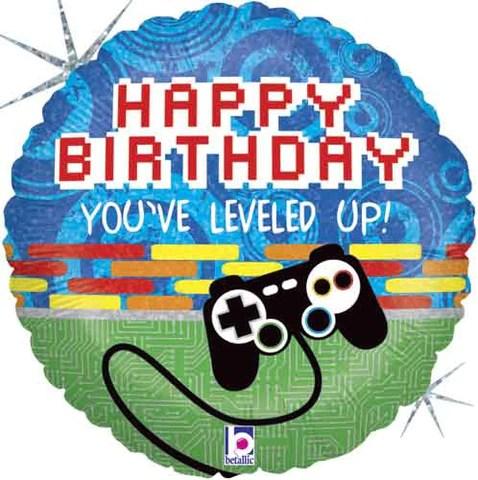 Video Game Controller Happy Birthday Balloon Bouquet Jeckaroonie Balloons