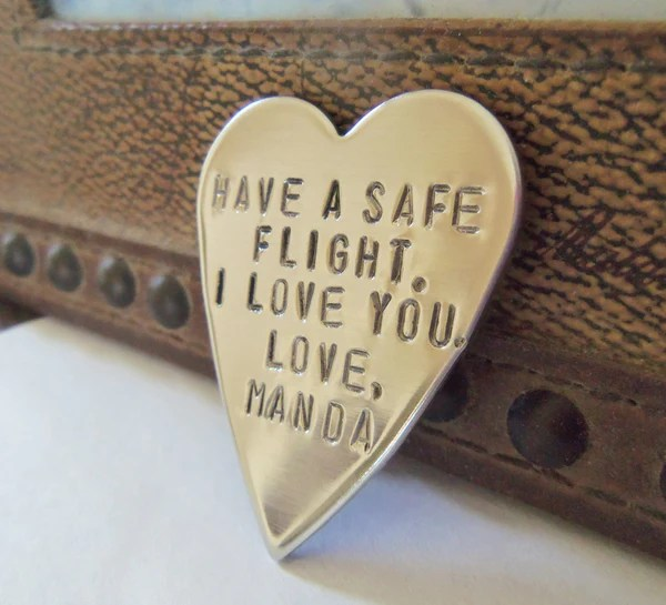 Have A Safe Flight I Love You Personalized Keepsake For