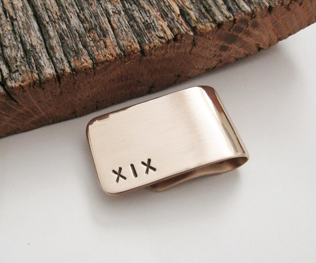 19th Anniversary Gift For Husband Money Clip Year 19
