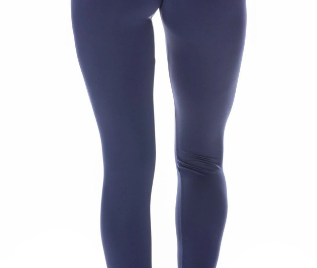 Brazilian Workout Legging Scrunch Booty Lift Compression Navy