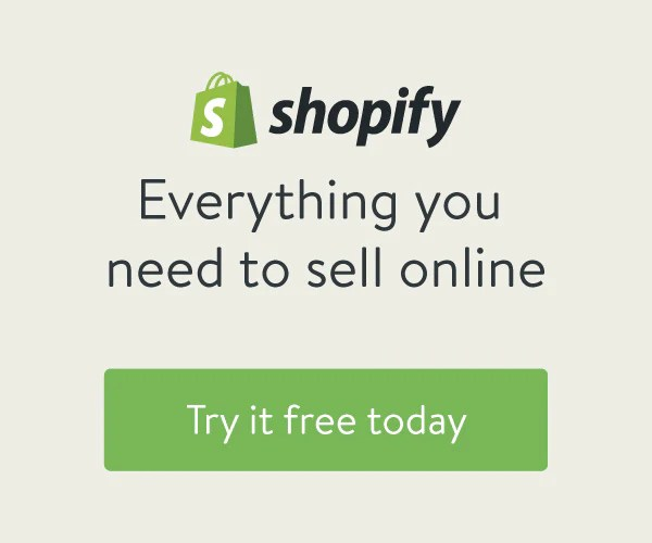Try Shopify for a free 14-day trial!