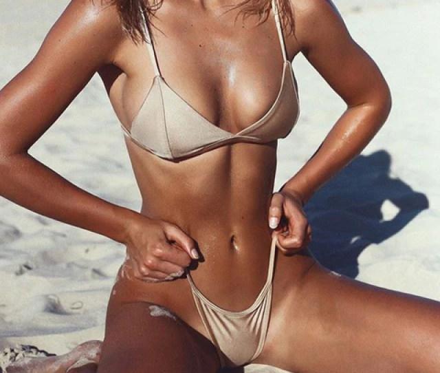 Beach Hot Summer Swimsuit New Arrival Spaghetti Strap Swimwear Gold Sexy Bikini 11727414351