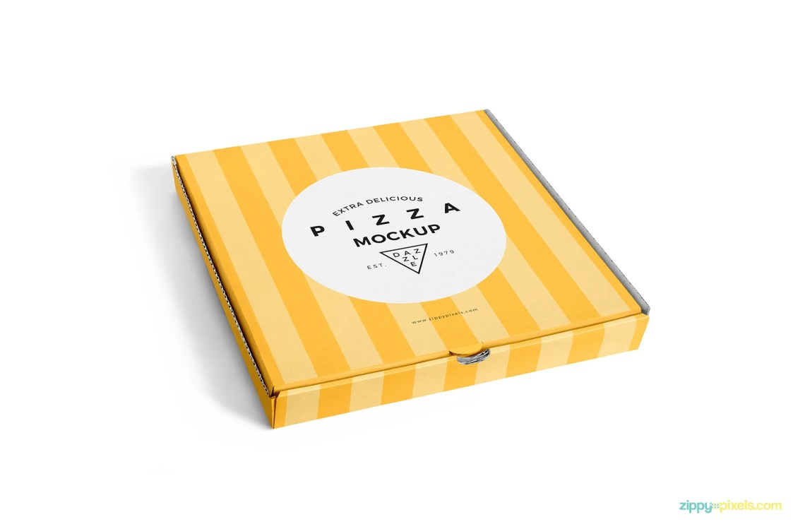 Download Free Delicious Pizza Box Mockup - CreativeBooster