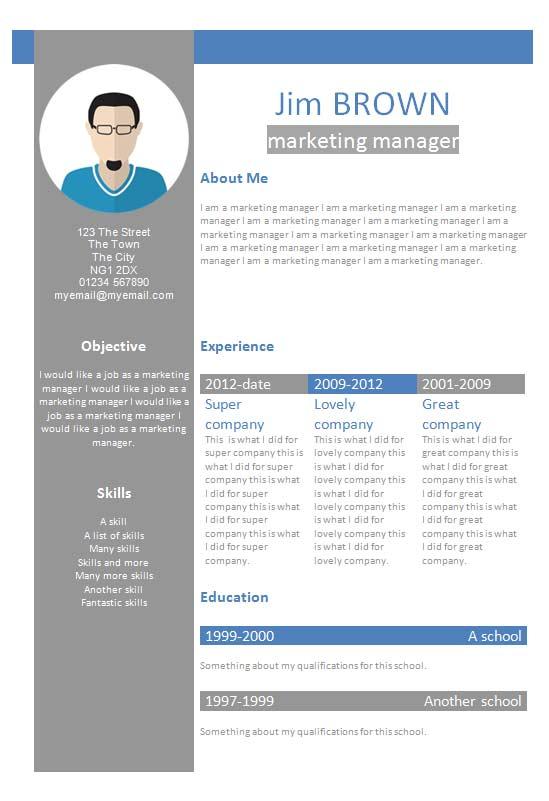Free Profile Creative Cv Resume Template In Microsoft Word