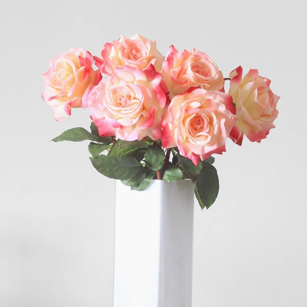 Orange Silk Flower Arrangements Roses In Basket