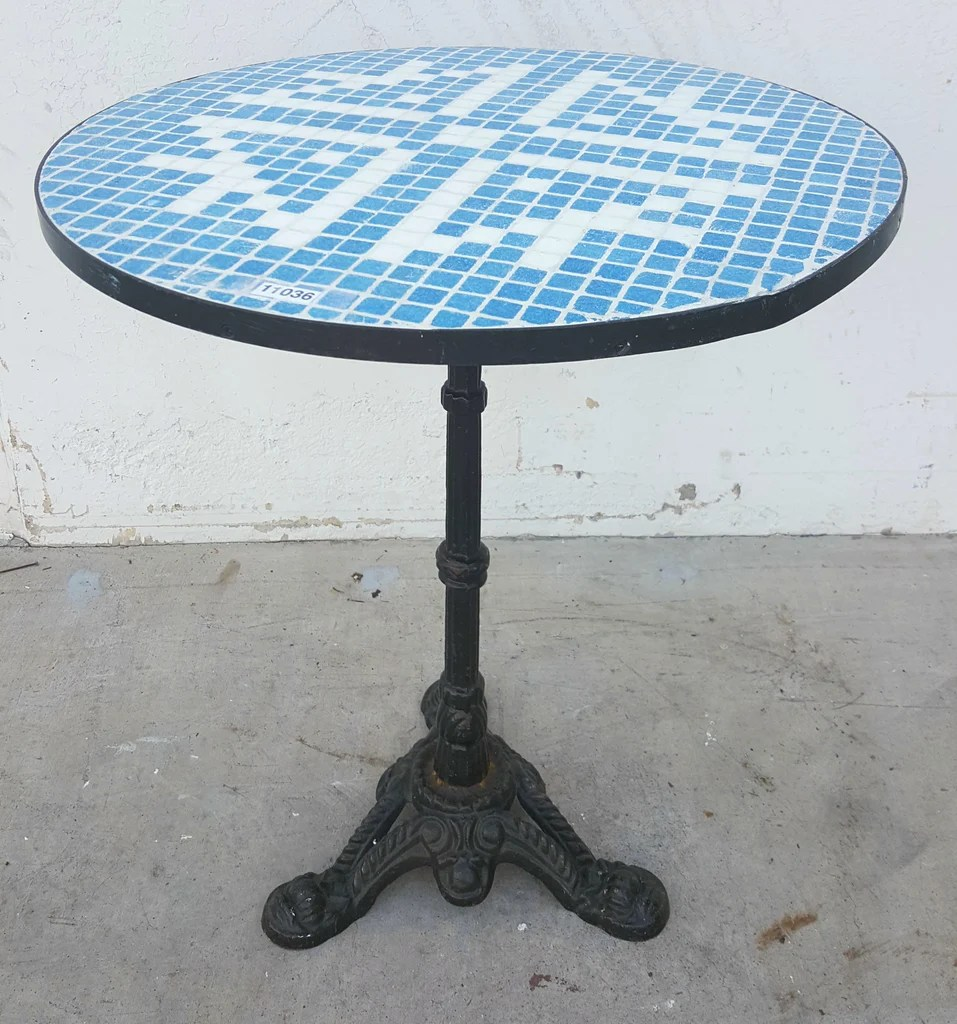 tile top bistro table