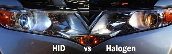 HIDs vs Halogen headlights