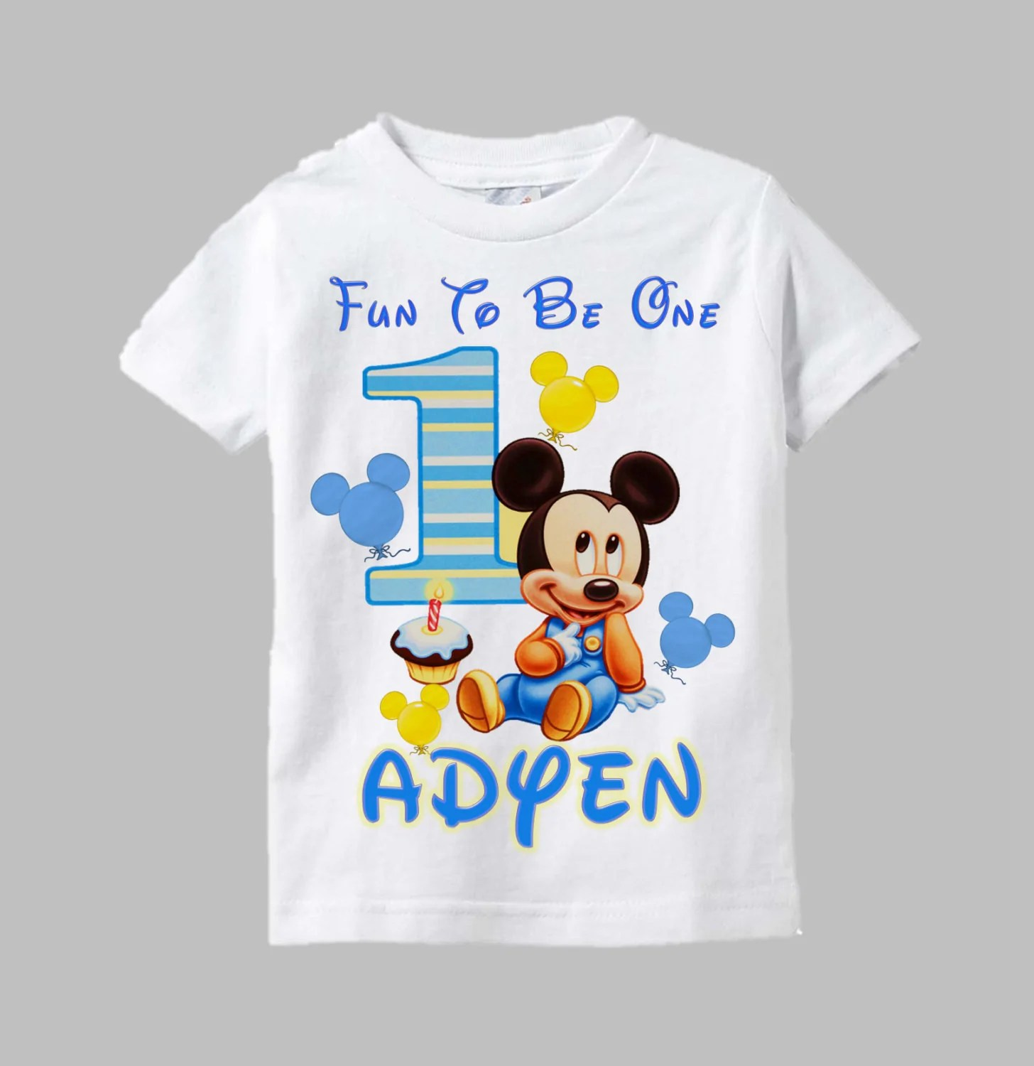 Mickey Mouse First Birthday Shirt Buy Clothes Shoes Online