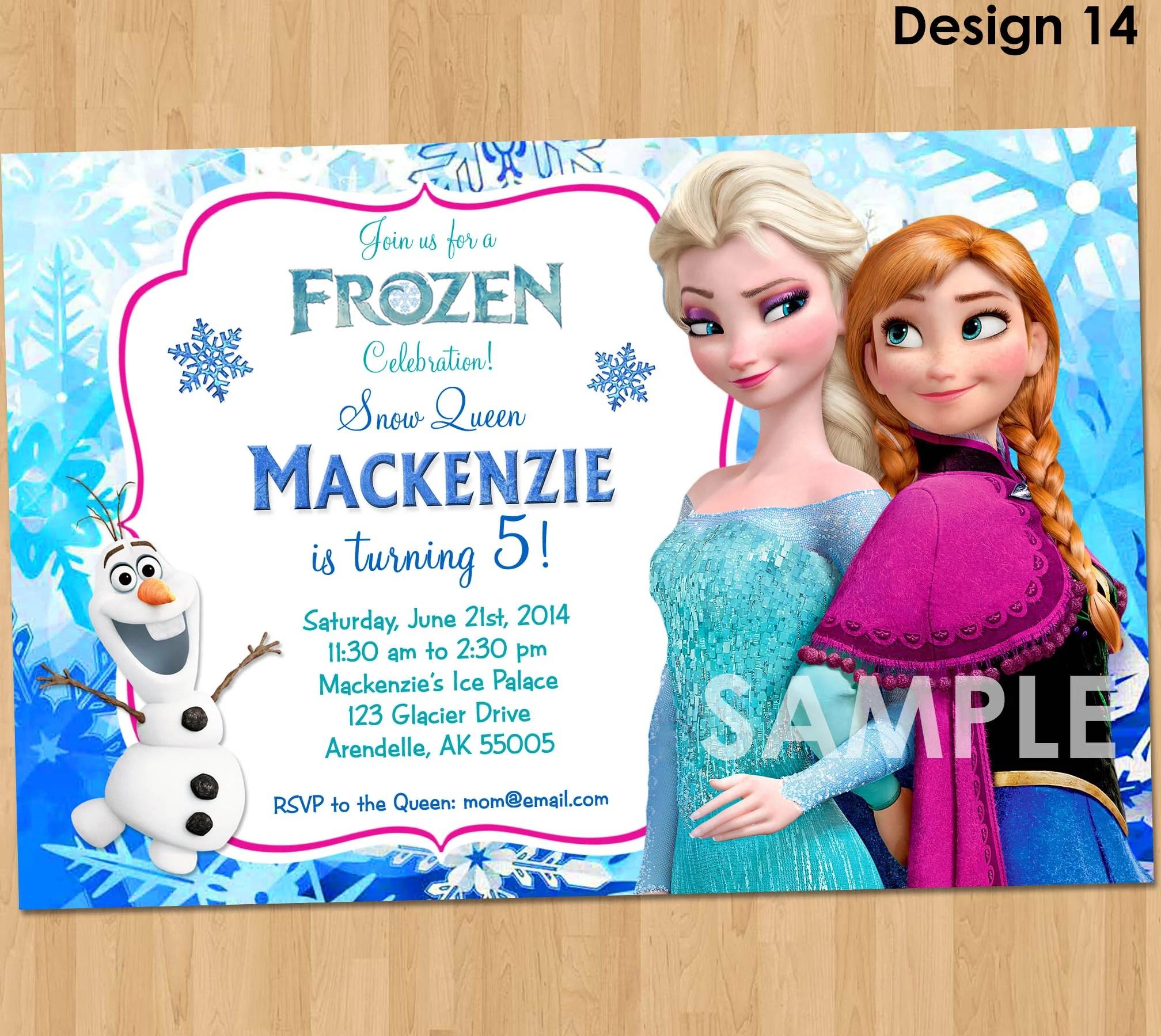 frozen invitation frozen birthday invitation disney frozen party invites birthday party ideas printable elsa anna olaf