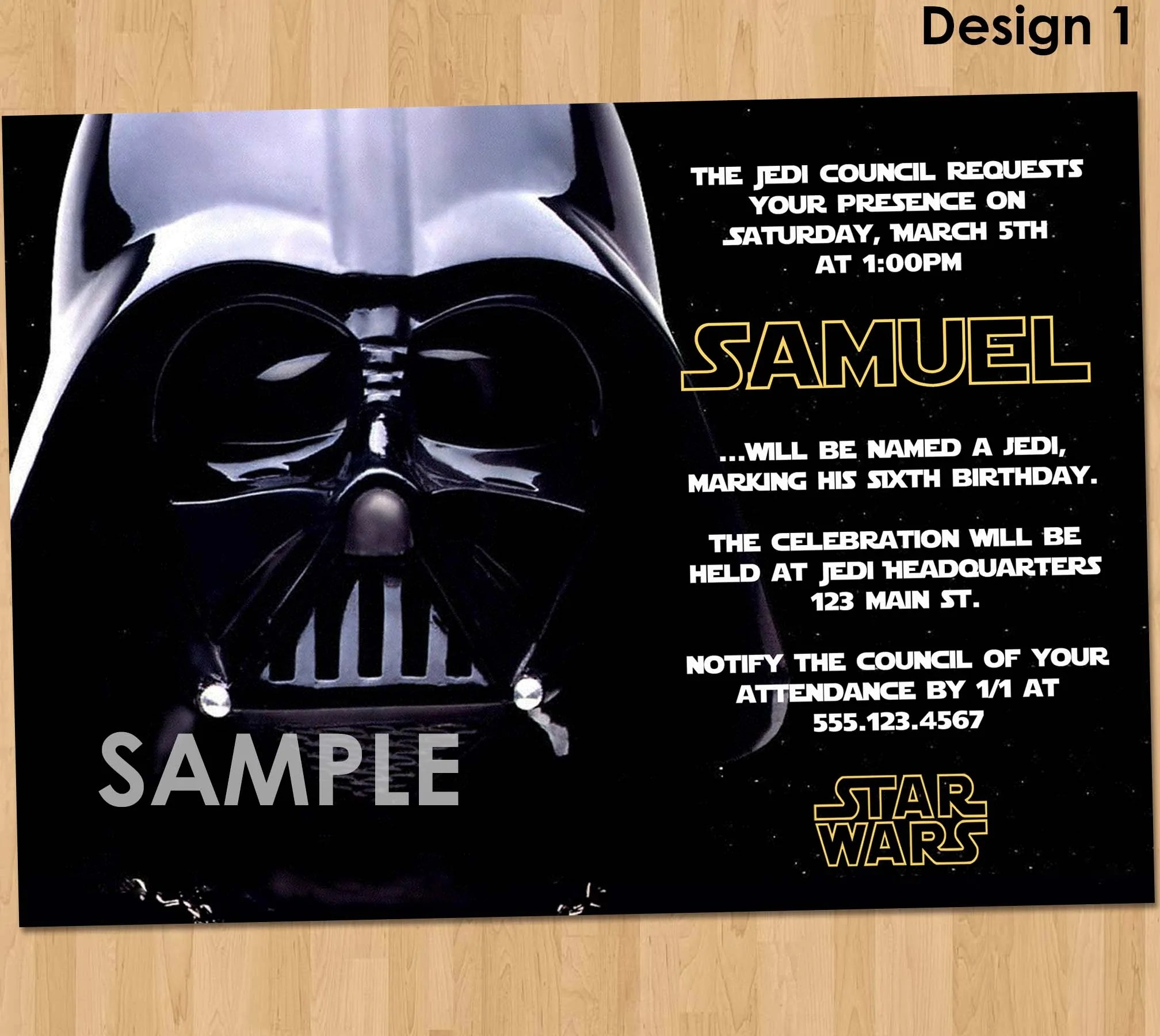 Star Wars Party Invitation Star Wars Party Printable Star Wars Inv Kids Party Printables Invitations Chalkboard Signs Party Supplies