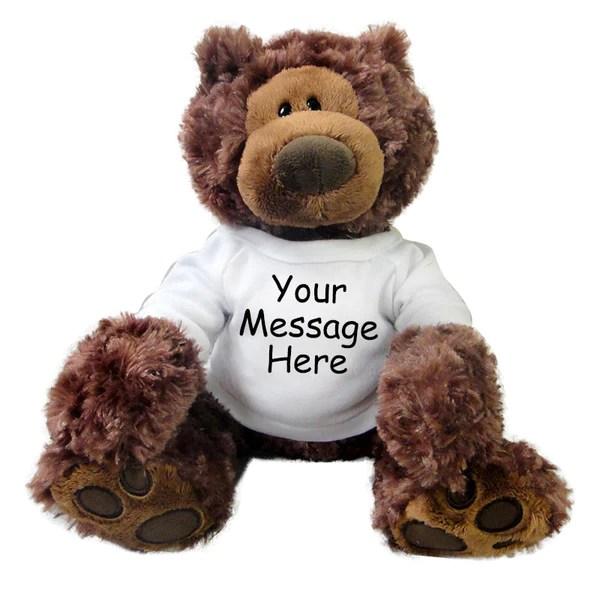 Personalized Teddy Bear Gund Philbin Bear Chocolate