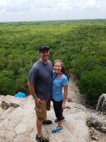 Documenting family travel (Mayan ruins at Coba)