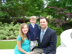 Robison family at their wedding in 2008