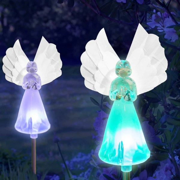 Solar Fairy Angel Lights Color Changing Garden Decor