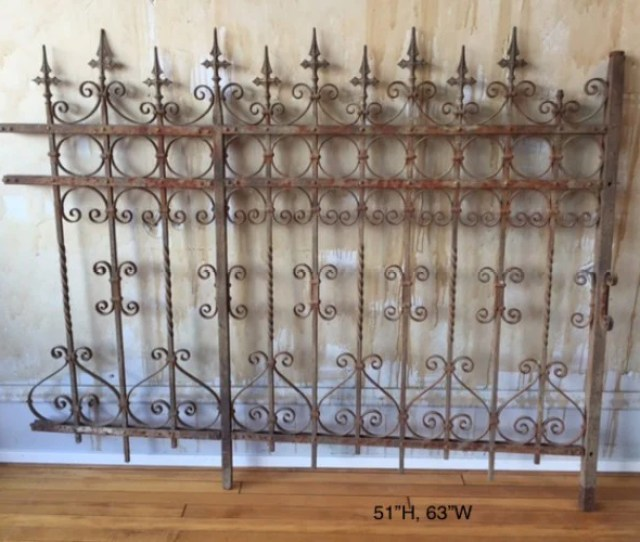 Italian Antique Wrought Iron Fence Sold Mercato Antiques