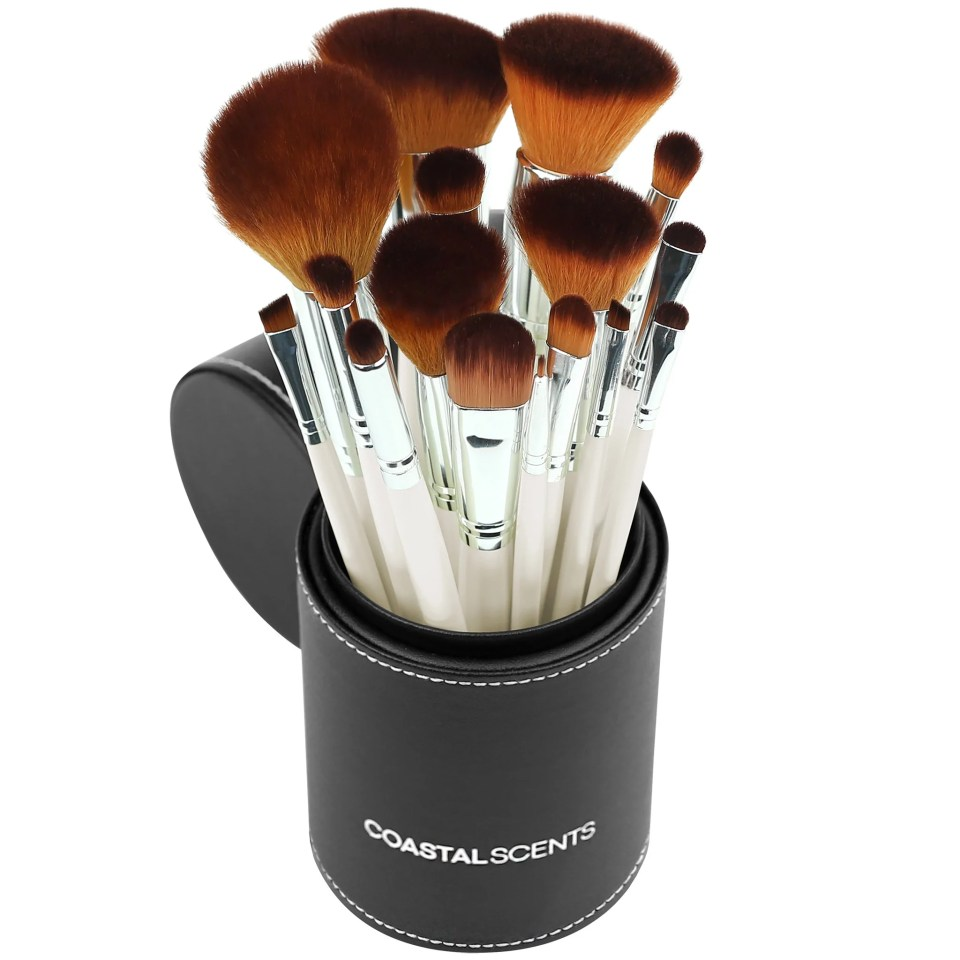 Put your best face forward with CoastalScents-Pearl Brush Set