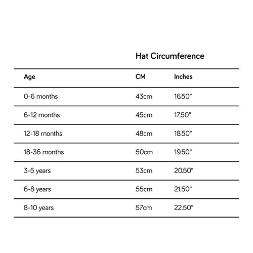 Kids Hat Size Guide How To Measure Head Size Guide Little Hotdog Watson