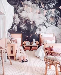 Dark Floral Wallpaper Anewall Mural Wallpapers
