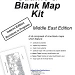 Middle East Outline Blank Map Kit Digital Free 8 Pages Many Ways To See The World