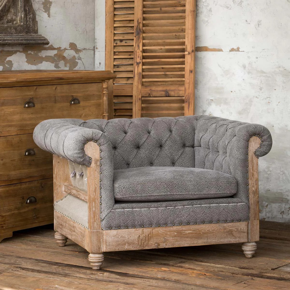 deconstructed chesterfield sofa