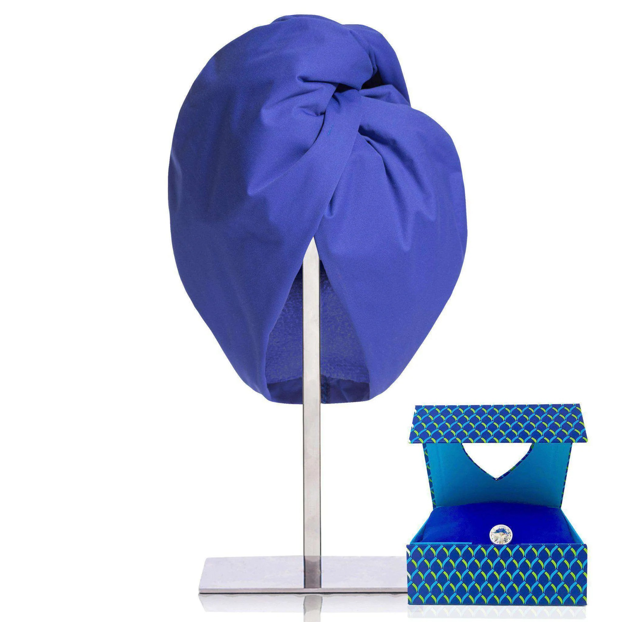 Royal Blue Terry Wrap Towel