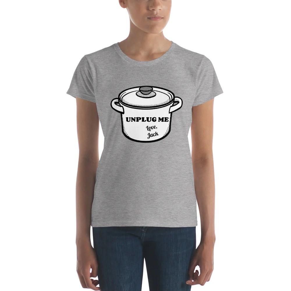 Download Unplug Me, Love Jack Women's short sleeve t-shirt - Paper ...