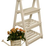 3 Tiered Wooden Ladder Plant Stand Wholesale Displays Planters