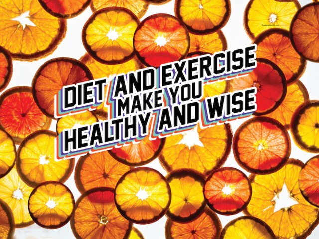Custom Diet and Exercise Make You Healthy And Wise Orange