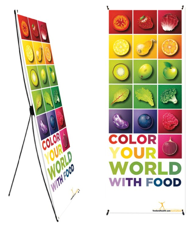 Color Your World With Food Banner Stand 24