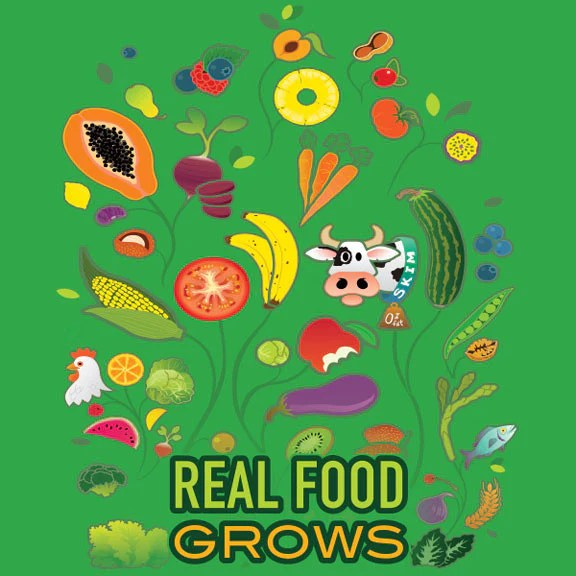 Real Food Grows Stickers 2