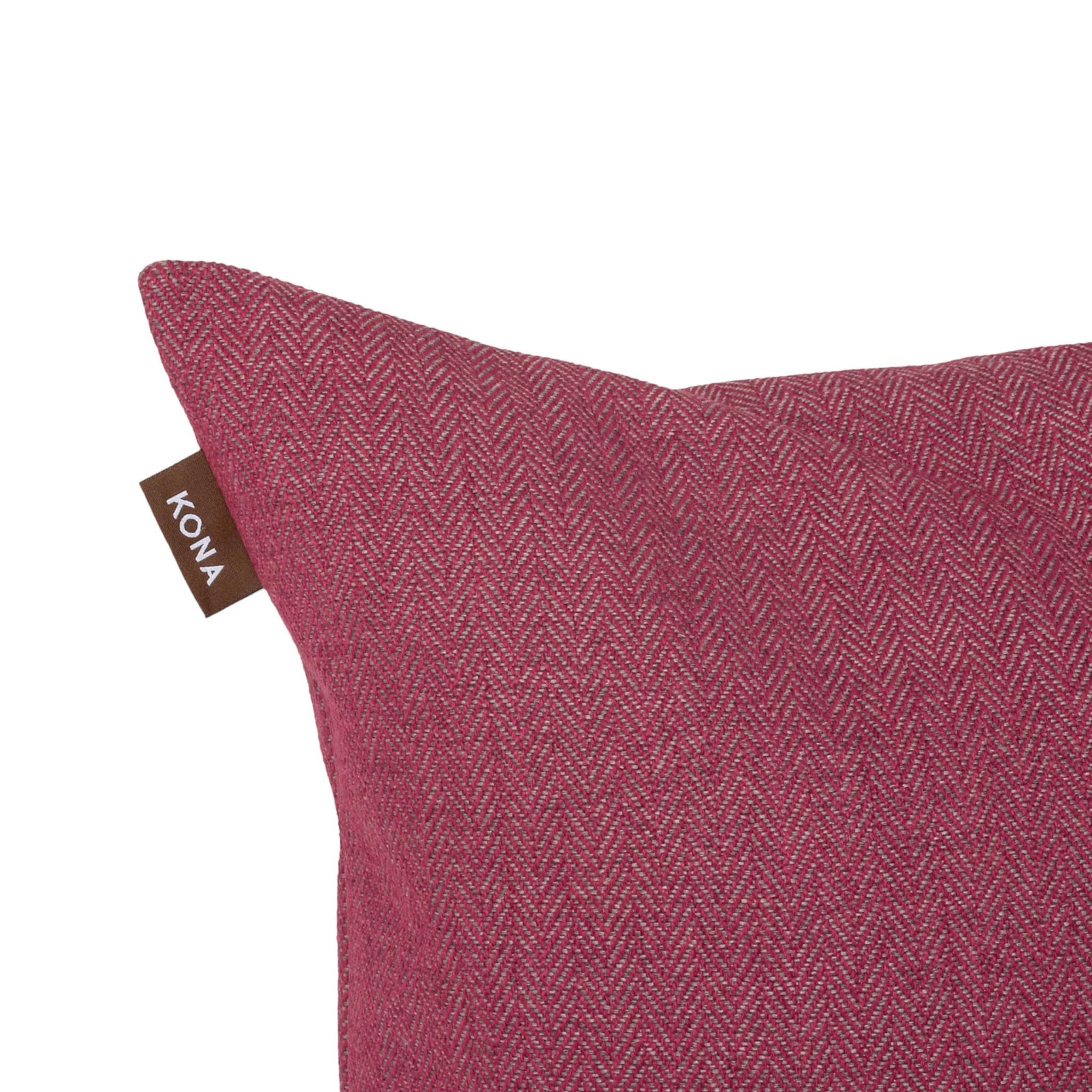decorative pillow cover magenta pink herringbone