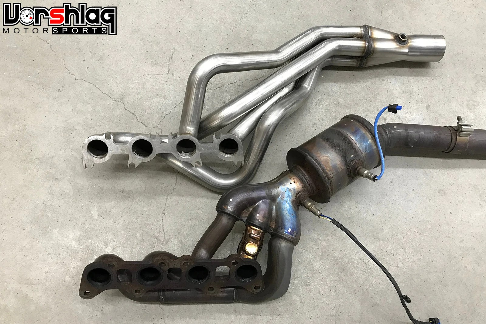 arh ford 2015 19 mustang 5 0l long tube headers with x pipe