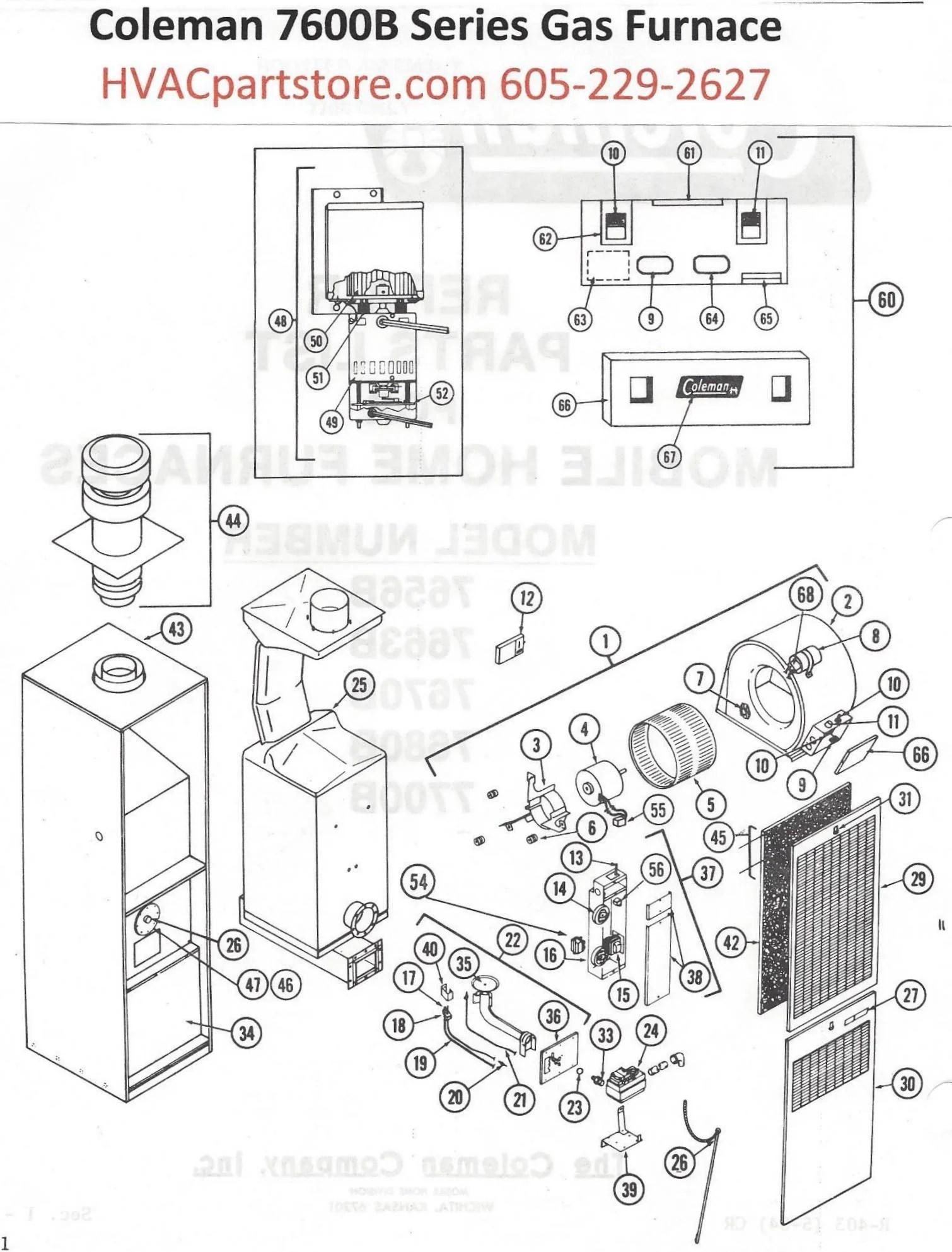 7680B856 Coleman Gas Furnace Parts – HVACpartstore