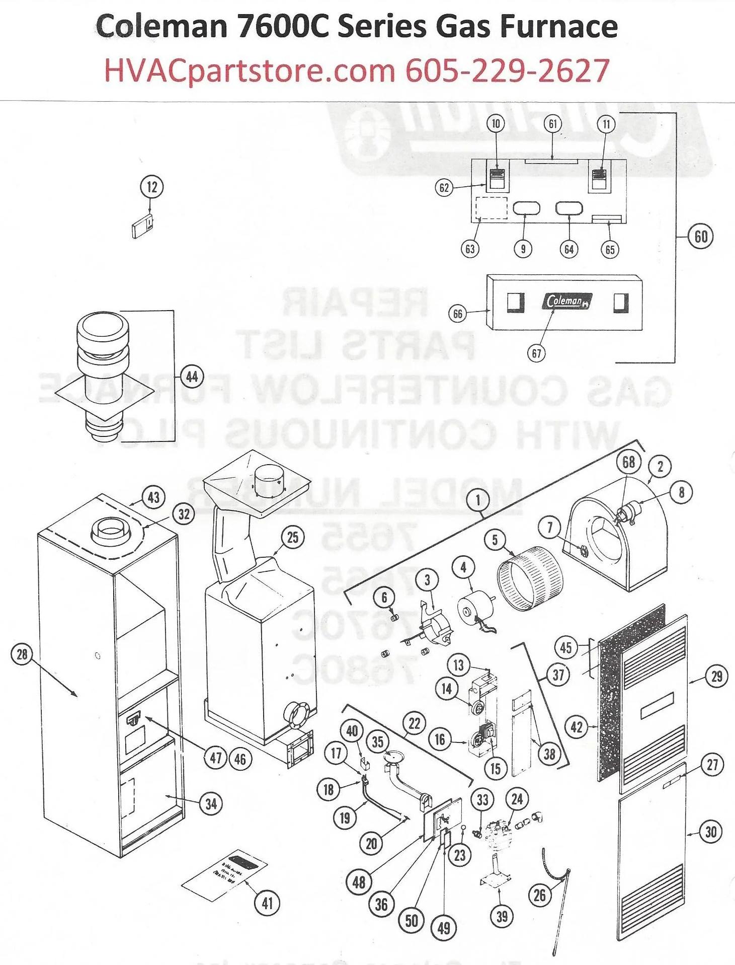 7670C856 Coleman Gas Furnace Parts – HVACpartstore