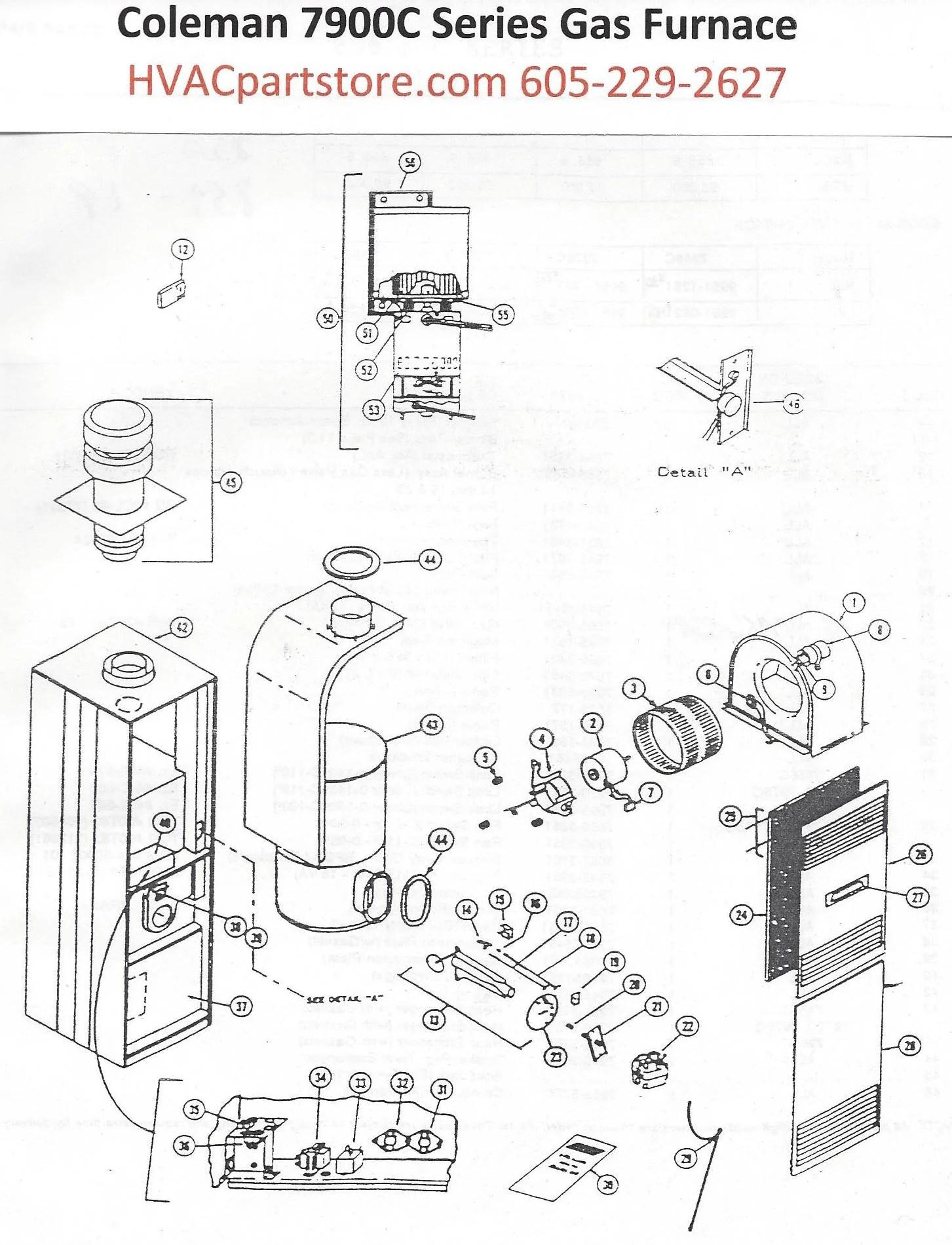 7975C856 Coleman Gas Furnace Parts – HVACpartstore