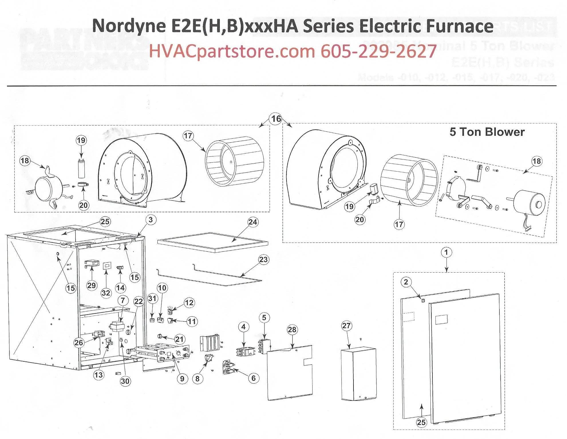 E2EB017HB Nordyne Electric Furnace Parts – HVACpartstore