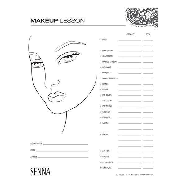 Senna Makeup Artist Face Charts Camera Ready Cosmetics
